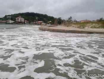 Praia é engolida pelo mar na Grande Florianópolis; veja antes e depois - ND Mais