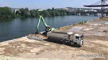 Hauts de Seine : à Gennevilliers, les terres polluées du chantier olympique s'évacuent par la Seine - Les Échos