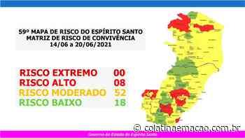 Divulgado 59º Mapa de Risco do Espirito Santo - Colatina em Ação