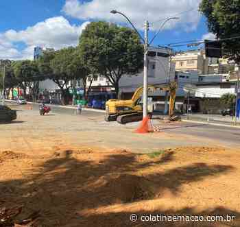 Obras do Terminal Rodoviário interditam o trânsito na Av. Ângelo Giuberti - Colatina em Ação