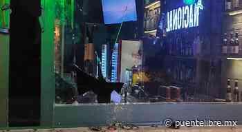 Rompió vidrios de 'La Nacional' cuando le cobraron cuenta - Puente Libre La Noticia Digital