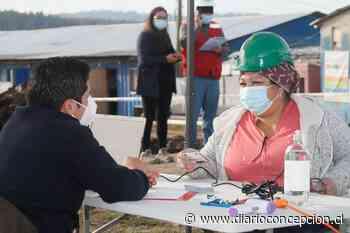 Trabajadores de la construcción de Concepción se vacunan contra el coronavirus - Diario Concepción