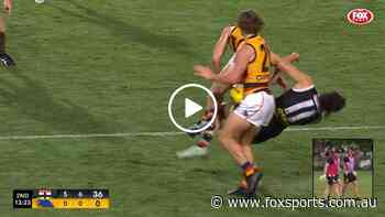 Mackay absolutely CRUNCHES Hunter Clark   Fox Sports Videos - Fox Sports
