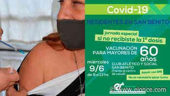 Jornada de vacunación en San Benito: aplican primera dosis a mayores de 60 - Elonce.com