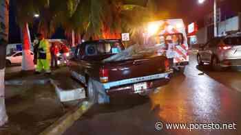 Mujer resulta lesionada tras choque en un camellón de Ciudad del Carmen - PorEsto