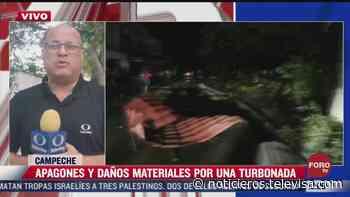 Fuertes vientos en Ciudad del Carmen dejan tres lesionados - Noticieros Televisa