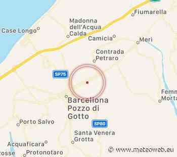 Terremoto in Sicilia, scossa avvertita a Barcellona Pozzo di Gotto [DATI e MAPPE] - Meteo Web