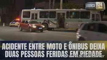 Acidente: colisão entre moto e ônibus deixa duas pessoas feridas em Piedade - Bol - Uol