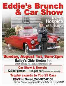 """Olde Breton Inn and Bailey's Catering Hosting """"Eddies Brunch and Car Show"""" on Sunday, August 1, 2021 to Benefit Hospice St. Mary's!   Southern Maryland News Net - Southern Maryland News Net"""