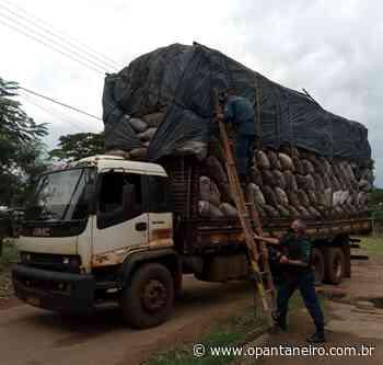 PM fecha o cerco para caminhões com altura excedida em Aquidauana - O Pantaneiro