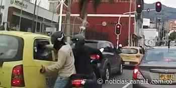 En video quedó grabado impactante caso de fleteo en Medellín - Canal 1