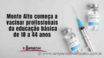 Monte Alto começa a vacinar profissionais da educação básica de 18 a 44 anos. – Jornal O Imparcial - O Imparcial – Monte Alto