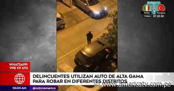 Surco: Delincuentes cometen robos en autos de alta gama - América Televisión