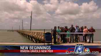 Riviera Beach pier complete after destruction by Hurricane Hanna - Yahoo News