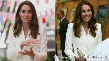 Kate Middleton is radiant in ivory coat dress with Prince William at a reception - Hindustan Times