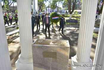 Con ofrenda de laureles conmemoran la Paz del Chaco en Villarrica - Nacionales - ABC Color