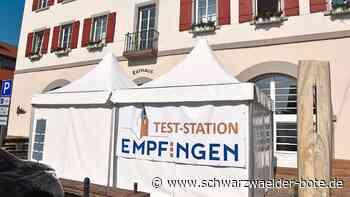 Empfingen - Neue Corona-Teststation eröffnet am Empfinger Rathaus - Schwarzwälder Bote