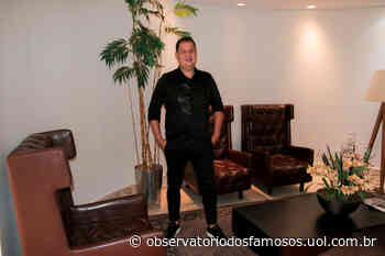 Junior Mendes usa look Sergi Romero em gravação de DVD - Observatório dos Famosos