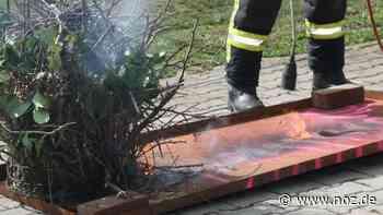 Abflammgerät setzt Industriehalle in Bad Bentheim in Brand - NOZ