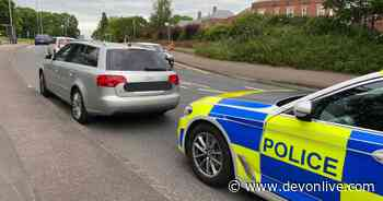 Audi driver in Exeter with no insurance or licence caught by police - outside force's HQ - Devon Live