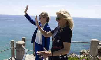 US First Lady Jill Biden gives Boris Johnson's son Wilfred a book called Joey