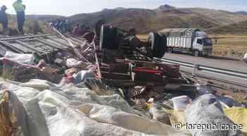 Puno: volcadura deja dos comerciantes muertos en vía Ayaviri-Nuñoa - LaRepública.pe