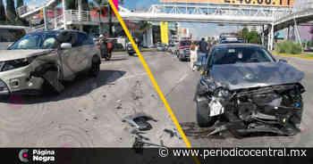 Choque causa daños en camioneta y auto en San Andrés Cholula - Periodico Central