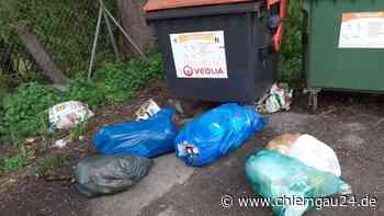 Wilde Müllablagerungen am Containerstandplatz, Stadt Tittmoning bittet um Hinweise aus der Bevölkerung - chiemgau24.de