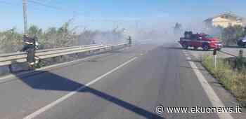 Incendio nei pressi della ferrovia tra Silvi e Pineto: la causa lo scintillio di un treno - ekuonews.it