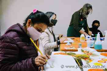 Taquara realiza curso de tingimento e pintura em tecidos - Jornal NH