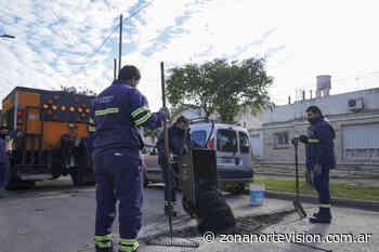 Vicente López: avanzan los trabajos de bacheo en Florida Oeste - Zona Norte Visión