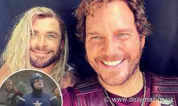 Chris Hemsworth trolls Chris Evans for his birthday by sharing a snap of himself with Chris Pratt