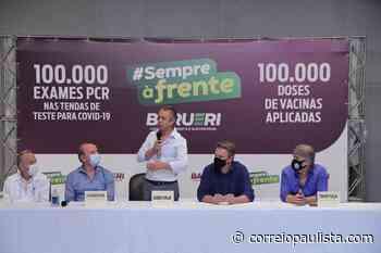 """""""Temos hoje entre 11% e 12% da população de Barueri totalmente imunizada"""", diz Furlan. - Correio Paulista"""
