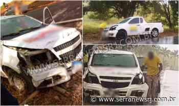 Carro colide contra cerca e poste na RJ-158, em Itaocara - Serra News