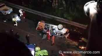 12 personas fallecieron en accidente de tránsito en la vía Balsapamba-Guaranda - El Comercio - El Comercio (Ecuador)