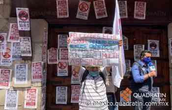 Protestan por Halconazo en casa de Echeverría en San Jerónimo - Quadratín Michoacán