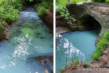 Pollution incident turns Bristol river blue - ITV News