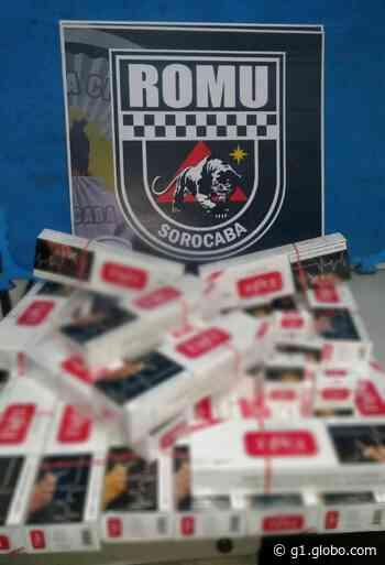 Guarda Municipal apreende mais de 200 maços de cigarros contrabandeados em Sorocaba - G1