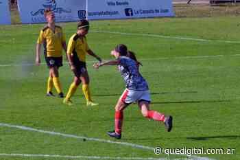 Fútbol femenino: la marplatense Bárbara Calvo anotó su primer gol en Huracán - Qué Digital