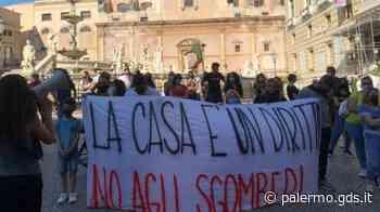 """Palermo, protesta per lo sgombero dell'ex Monastero di Sant'Andrea: """"La casa è un diritto"""" - Giornale di Sicilia"""