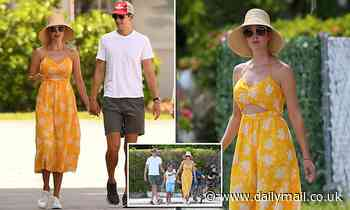 Ivanka Trump looks VERY summery in cut-out yellow dress as she heads out with Jared Kushner and kids
