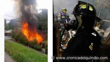 Incendio afectó una vivienda en el barrio Gibraltar de Armenia - La Cronica del Quindio