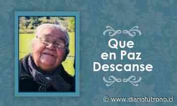 [Defunción] Falleció Dionila del Carmen Miranda Curinao QEPD - Diario Futrono