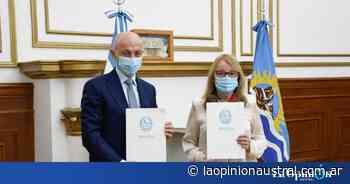 Provincia firmó convenio con Caleta Olivia para invertir $ 95 millones en obra pública - La Opinión Austral