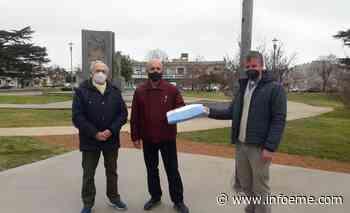 Coopelectric entregó una bandera Argentina a los vecinos del Barrio San Vicente - Infoeme