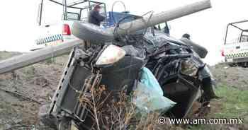 Accidente en Silao - San Felipe: auto termina hecho pedazos y conductor atrapado y herido de gravedad - Periódico AM