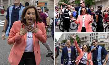 Kamala Harris makes surprise appearance at DC's Pride march days after Central America tour