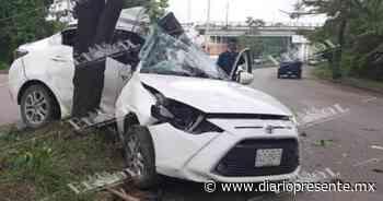 Aparatoso accidente sobre el periférico de la ciudad de Villahermosa - Diario Presente