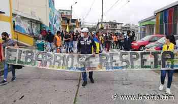 En el barrio Villahermosa se inició la movilización de este miércoles en Manizales - La Patria.com