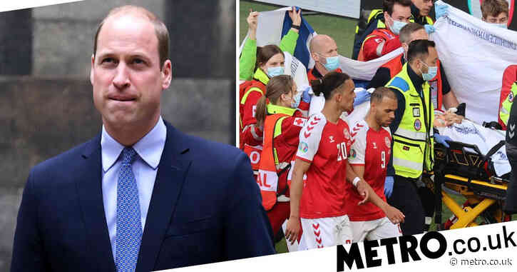 Prince William 'thinking about Christian Eriksen' after he collapses on pitch